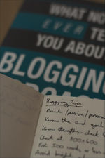 Photo Of Blogging Book And Notebook From Andyp Uk On Flickr