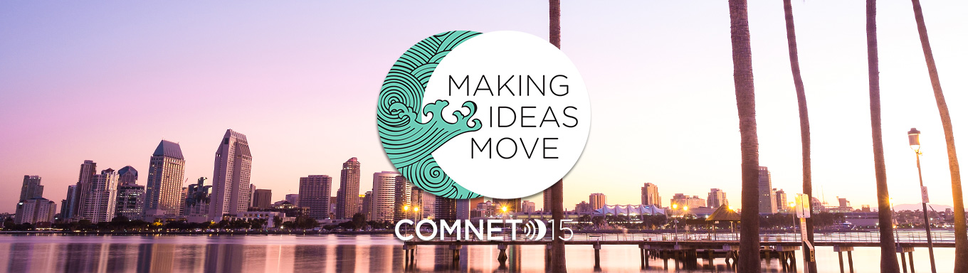 Making Ideas Move / COMNET 15 Banner